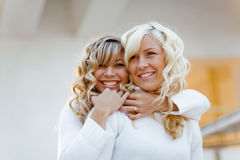 Loving sisters Stock Photo