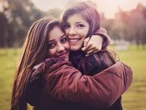 Loving sisters Royalty Free Stock Photography