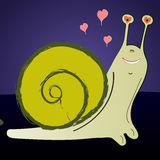 Loving  snail o Stock Photography