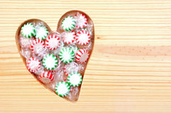 Loving starlight Christmas candies Stock Photos