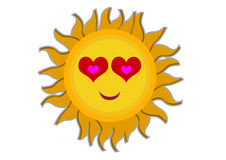 Loving Sun Cartoon Character Royalty Free Stock Photos