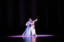 Loving support-The second act of dance drama-Shawan events of the past Stock Images