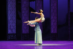 Loving support-The second act of dance drama-Shawan events of the past. Guangdong Shawan Town is the hometown of ballet music, the past focuses on the historical Stock Photos