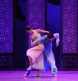 Loving support-The second act of dance drama-Shawan events of the past Stock Image