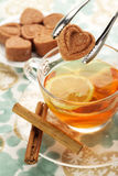Loving tea Royalty Free Stock Photos