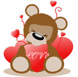 Loving teddy bear Royalty Free Stock Photo