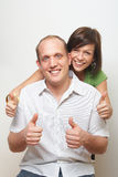Loving Thumbs Up Stock Photography