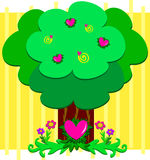 Loving Tree with Lots of Hearts Royalty Free Stock Image