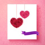 Loving Valentine card design with hearts Royalty Free Stock Photos