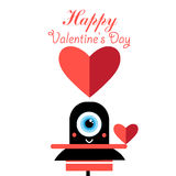 Loving vector cheerful monster Royalty Free Stock Images