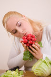 Loving vegetables Royalty Free Stock Images
