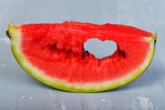 Loving the watermelon Stock Images