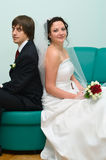 Loving wedding couple Stock Photography