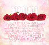 Loving Words for Mother's Day Stock Photography