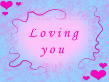 Loving you_Blue Royalty Free Stock Photos