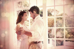 Loving young couple holding hands Stock Images