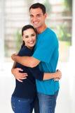 Loving couple hugging royalty free stock image