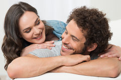 Loving Young Couple Stock Photos