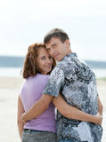 Loving young couple at sea Royalty Free Stock Photo