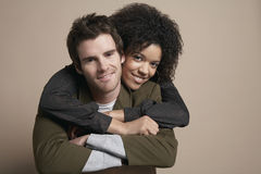 Loving Young Couple Smiling Royalty Free Stock Photo