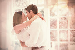 Loving young couple about to kiss Royalty Free Stock Photography