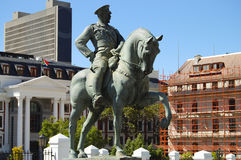 Lovis Botha staty - Cape Town royaltyfri fotografi