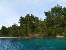 The Lovisce bay of the Croatian island Scedro Stock Photos