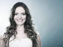 Lovly girl long curly hair portrait Royalty Free Stock Photos