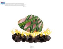 Lovo, Traditional Fijian Meat Cooked on Heated Stones Stock Images