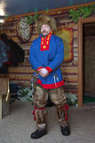 Lovozero, Russia - January 08, 2014, Saam in national dress Royalty Free Stock Photos