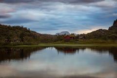 Lovrafjorden Noruega Fotos de Stock Royalty Free