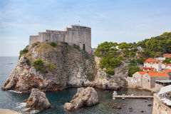 Lovrijenac fort in Old city of Dubrovnik Stock Photography