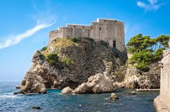 Lovrijenac fortress in Dubrovnik. Old town Royalty Free Stock Images