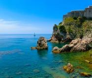 Lovrjenac forte in Ragusa, Croazia Fotografie Stock