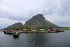 Lovund, un'isola norvegese Fotografie Stock