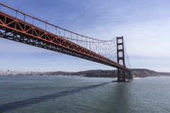 Low Aerial of the Golden Gate Bridge in San Francisco Royalty Free Stock Images