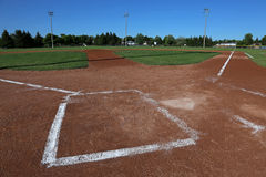 Low Angle Baseball Field Royalty Free Stock Photos