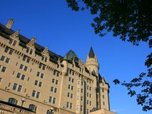 Low Angle Chateau Laurier Stock Images