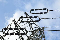 Electricity Pylon Detail Royalty Free Stock Photography