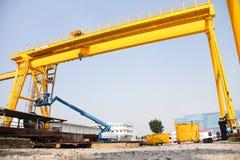 Low angle crane Stock Image