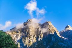 Snowy Rocky Andes Mountain, Patagonia, Chile Royalty Free Stock Images
