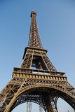 Low angle on eiffel tower. Low angle view of the eiffel tower in paris Stock Images