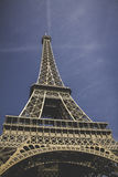 Low Angle of Eiffel Tower Stock Photo