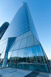 Low angle high rise. Modern high rise buildings on a clear day Royalty Free Stock Images