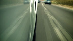 Low Angle High Speed Driving on Car stock video footage