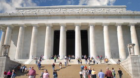 Low angle of lincoln memorial stock video footage