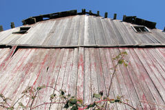 Low Angle of Old Barn Royalty Free Stock Images