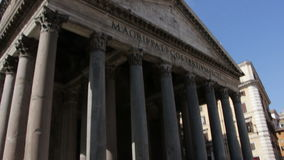 Low angle on the Pantheon stock footage