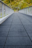 Low Angle Perspective of Empty Foot Bridge - vertical. Stock Image