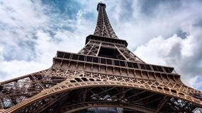 Low Angle Photo Graph of Eiffel Tower Stock Photography